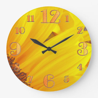 Sunflower Petals Wall Clock