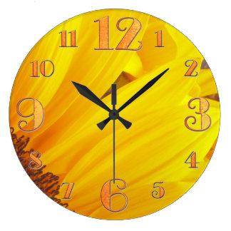Sunflower Petals Wall Clock