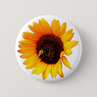 Sunflower Photo 6 Cm Round Badge