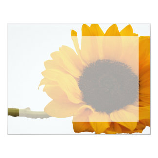 Sunflower Photo Flat Note Cards 11 Cm X 14 Cm Invitation Card