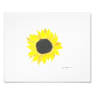 Sunflower Photo Paper Art