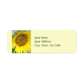 Sunflower Photography Return Address Label