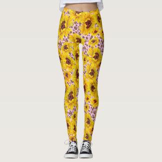 Sunflower pink leopard print leggings