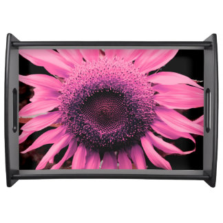 Sunflower pink serving tray