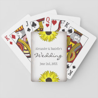 Sunflower Playing Card Wedding Favors