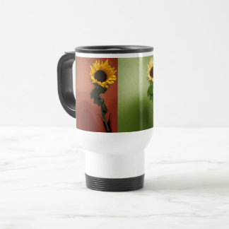 Sunflower Pop Art Photo Elegant Chic Beautiful Travel Mug