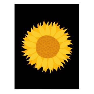Sunflower. Postcard