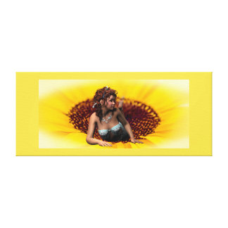 Sunflower Princess Canvas Print