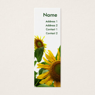 Sunflower Profile Card