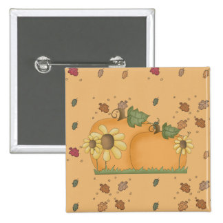 sunflower pumpkins 15 cm square badge