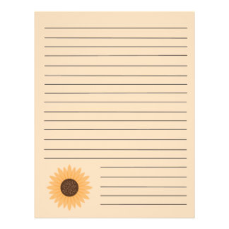 Sunflower Recipe Binder Pages