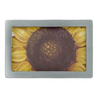 sunflower rectangular belt buckle