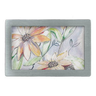 Sunflower Rectangular Belt Buckles