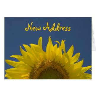 Sunflower Rising Change of Address Card