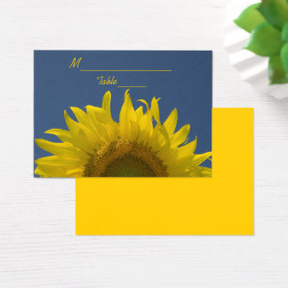 Sunflower Rising Wedding Place Card
