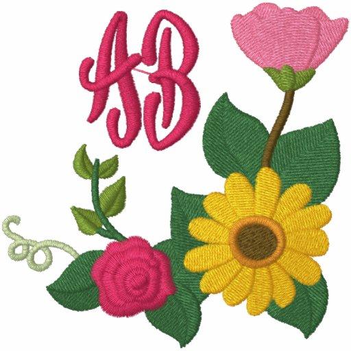 Sunflower Rose Monogram