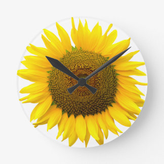 Sunflower Round Clock