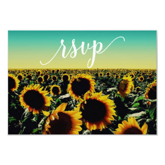 Sunflower RSVP card 9 Cm X 13 Cm Invitation Card