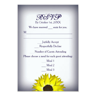 Sunflower RSVP Card - Wedding/Special Occasions