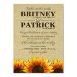 Sunflower Rustic Burlap Wedding Invitations 11 Cm X 16 Cm Invitation Card
