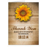 sunflower rustic thank you cards
