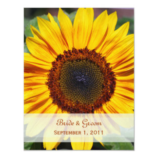 Sunflower Save The Date Card 11 Cm X 14 Cm Invitation Card