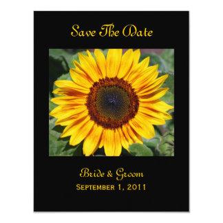 Sunflower Save The Date Card 11 Cm X 14 Cm Invitation Card