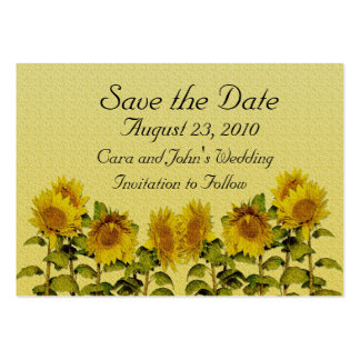 Sunflower Save the Date Card Large Business Cards (Pack Of 100)