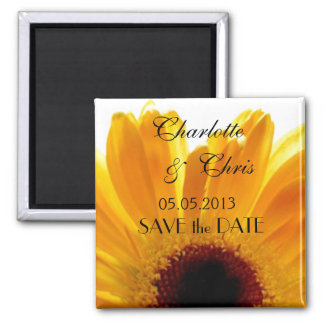 Sunflower; Save the Date Magnet