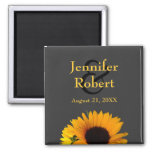 Sunflower Save the Date Magnet