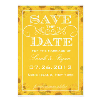 Sunflower Save the Date Photo Announcement