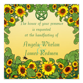 Sunflower Scroll Handfasting Invitation