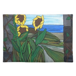 Sunflower seascape placemat