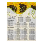 Sunflower Seating Chart Table Numbers