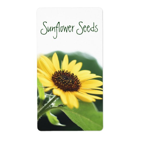 Sunflower Seeds Label Shipping Label