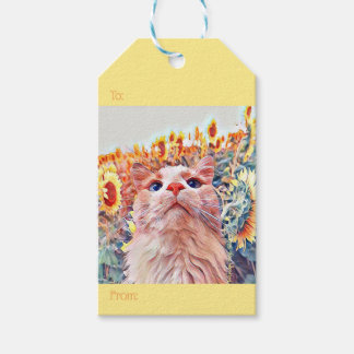 Sunflower Sentinel Gift Tags (Set of 10)