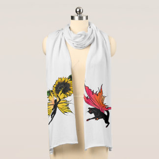 Sunflower Shadow Fairy and Cosmic Cat Scarf