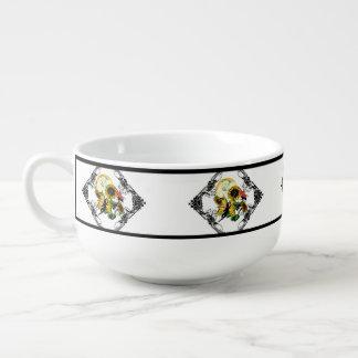 Sunflower Shadow Fairy and Cosmic Cat Soup Mug