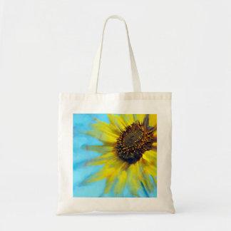 Sunflower Smear Tote Budget Tote Bag