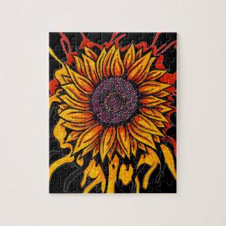 Sunflower Splattered Jigsaw Puzzle