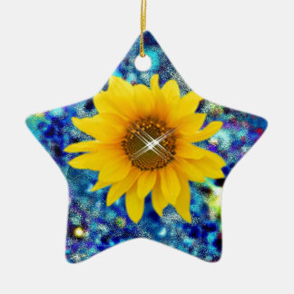 Sunflower spring Dazzle gifts Ceramic Ornament