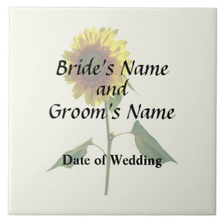 Sunflower Standing Tall Wedding Products Ceramic Tile