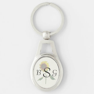 Sunflower Standing Tall Wedding Products Key Ring