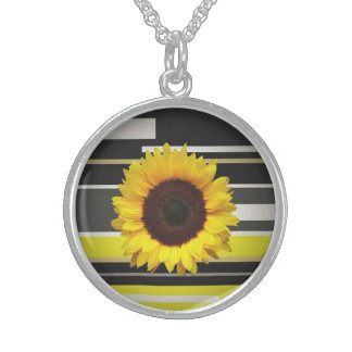 Sunflower Sterling Silver Necklace