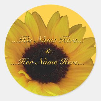 Sunflower Stickers Personalized Sunflower Stickers