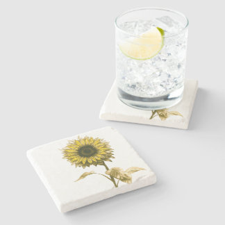 Sunflower Stone Coaster