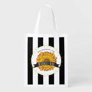 Sunflower & Stripes Farmer's Market Bag