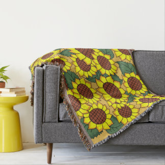 Sunflower,sunflowers Throw Blanket