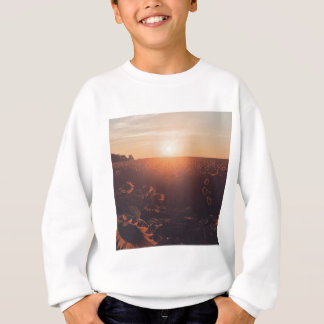 sunflower sunset field clothing sweatshirt