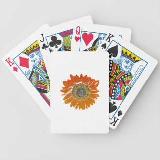 Sunflower Sunshine Bicycle Playing Cards